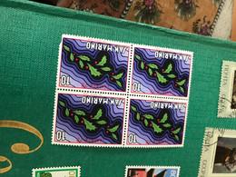 SAN MARINO LE BACCHE QUARTINA - Postzegels