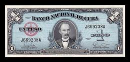 Cuba 1 Peso José Martí 1960 Pick 77b SC UNC - Cuba