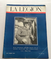 Revue LA LEGION - 2 - Juillet 1941 - Books, Magazines, Comics