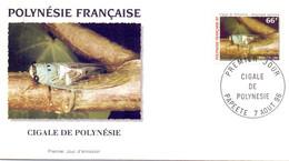 POLYNESIE FRANCAISE FDC 1996  CIGALE DE POLYNESIE  PAPEETE  (SETT200757) - Other
