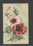 Themes Div-ref FF880-carte Fantaisie -veritables Paillettes Dorées - Souvenir Du Blanc - Indre - Fleurs   - - Le Blanc