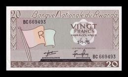 Ruanda Rwanda 20 Francs 1976 Pick 6e SC UNC - Ruanda-Urundi