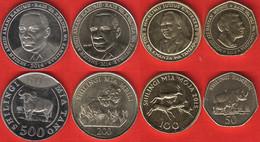 Tanzania Set Of 4 Coins: 50 - 500 Shillingi 2014-2015 UNC - Tansania