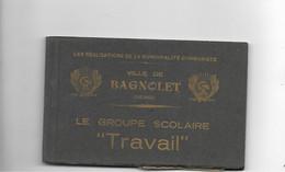 Carnet De 12 Cartes Postal Le Groupe Scolaire - Bagnolet