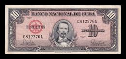 Cuba 10 Pesos Carlos Manuel De Céspedes 1960 Pick 79b BC/MBC F/VF - Cuba