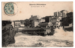 Cpa Biarritz Pittoresque Le Port Vieux Circulee En 1905 - Biarritz