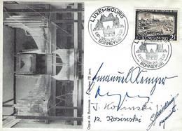 Luxembourg - Luxemburg - Lettre 1957 - ORGUE DE BONNEVOIE - 5 CLAVIERS - 72 JEUX - Luxemburgo
