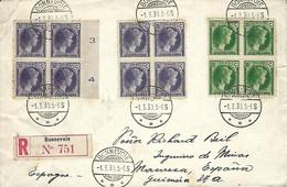 Luxembourg - Luxemburg - Lettre Recommandé 1930  2 Scans - 1926-39 Charlotte De Perfíl Derecho