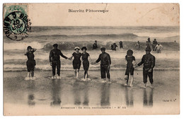 Cpa Biarritz Pittoresque Attention On Nous Photographie Circulee En 1907 - Biarritz