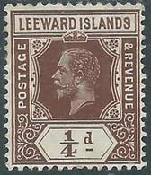 1912-22 LEEWARD ISLANDS SG 46 MH * - RD6-7 - Leeward  Islands