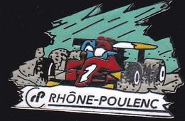 67176- Pin's.Rhone Poulenc.rallye Automobile.signé Démons Et Merveilles. - Automobilismo - F1