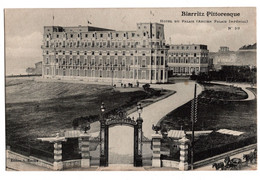 Cpa Biarritz Pittoresque Hotel Du Palais Ancien Palais Imperial - Biarritz