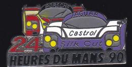 67178- Pin's.24 Heures Du Mans.1990.Porsche.Jaguar.2 Tacks. - Automobilismo - F1