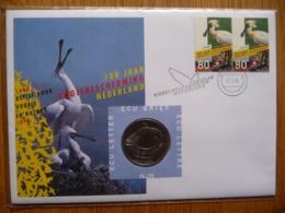 (ZW) NEDERLAND FDC / ECU-BRIEF MET * MUNT * COIN * POSTZEGELS * STAMPS * NR 35 * 100 JEARS OF BIRD PROTECTION.. - FDC