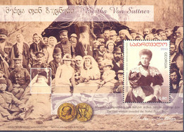 2020. Georgia, Bertha Von Suttner, Writer, Nobel Price Laureat, S/s, Mint/** - Georgia