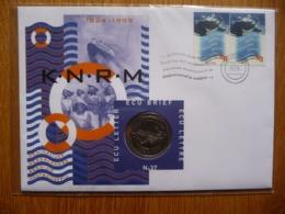 (ZW) NEDERLAND FDC / ECU-BRIEF MET * MUNT * COIN * POSTZEGELS * STAMPS * NR 37 * K-N-R-M. - FDC