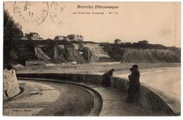 Cpa Biarritz Pittoresque La Cote Des Basques Circulee En 1911 - Biarritz
