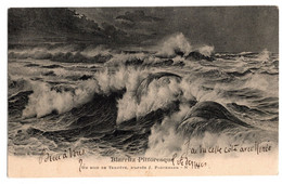 Cpa Biarritz Pittoresque Un Soir De Tempete D'apres Paguenaud Circulee En 1907 - Biarritz