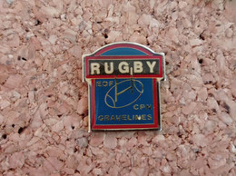 PINS RUGBY EDF CPN GRAVELINES (59) - Rugby