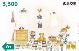 JAPAN - Cartoon, Bus Ticketcard Y5500, Used - Comics