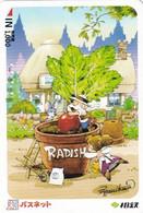 JAPAN - Cartoon, Radish, Prepaid Card Y1000, Used - Comics