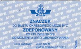 ABBONAMENTO BUS POLONIA (PY3111 - Season Ticket