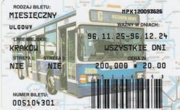 ABBONAMENTO BUS POLONIA (PY3120 - Season Ticket