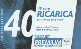 RICARICA TV MEDIASET PREMIUM 31-8-07 40 (PY3417 - Other Collections