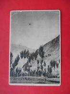 Aviation 1920-th Air Fleet. The First Plane Over The Village Of The Western Pamir. Russian Postcard - Tadjikistan