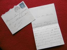 LETTRE AUTOGRAPHE BENJAMIN CONSTANT ARTISTE PEINTRE A JEAN GUIGOUX CONCERNE PORTRAIT DE Mme DREYFUS 1885 - Autogramme & Autographen