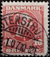 1913 König Christian X Schöner Stempel MiNr: 68 - Usati
