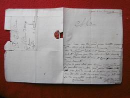 LETTRE AUTOGRAPHE LE CHEVALIER DANVILLE 1743 A DE SEGUIER A CASTRES - Autogramme & Autographen
