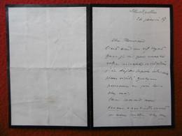 LETTRE AUTOGRAPHE COMTE DE SAPORTA PALEOBOTANISTE 1887 - Autogramme & Autographen