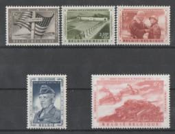 Bélgica  1957  **  Mnh  Yvert  1032/36  Valor  28 € - Ongebruikt