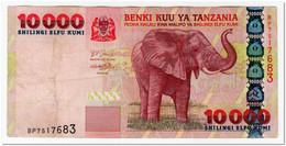 TANZANIA,10 000 SHILLINGI,2003,P.39,VF,PEN MARKS - Tansania