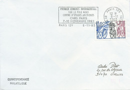 OMEC SECAP Avec Flamme Premier Congrès International Sur Le Pôle Nord - Centre D'études Arctiques - 07-10 Novembre 1983 - Events & Gedenkfeiern