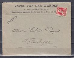 74 Op Brief Gestempeld THUILLIES Naar FROIDCHAPELLE - 1905 Grove Baard
