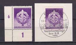 Deutsches Reich - 1942 - Michel Nr. 818 Ecke + Sonderstempel - Sonderstempel/Postfrisch - Used Stamps
