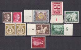 Deutsches Reich - 1941/43 - Michel Nr. 787/788 + 828/830 + 843 + 854/856 - Postfrisch - Deutschland