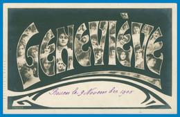 Prénom - GENEVIÈVE - Multitudes De Portraits De Femmes Dans Les Lettres - TONGIMED'S PAPER - 1905 - Firstnames