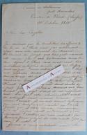 L.A.S 1850 Edouard De JONGH Médecin Photographe - Suisse Château De Salavaux Avenches Canton Vaud Lettre Autographe - Autogramme & Autographen