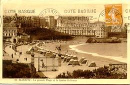Biarritz - La Grande Plage Et Le Casino Bellevue - Biarritz