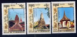CAMBODGE - N° 1053/1055° - CULTURE KHMÈRE - Cambogia