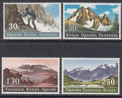 1968 Kenya Uganda Tanzania Mountains Of East Africa  Complete Set Of 4  MNH. - Kenya, Oeganda & Tanzania
