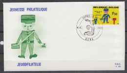 BELGIE : 1528 – FDC – Jeugdfilatelie – Philatelie De La Jeunesse - 1970 - 1961-70