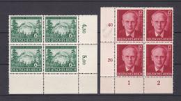 Deutsches Reich - 1943 - Michel Nr. 855/856 Viererblock Ecke - Postfrisch - Deutschland