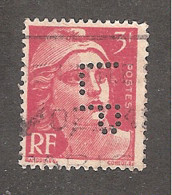 Perforé/perfin/lochung France No 716 LP La Participation - Perforadas