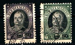 20894) SAN MARINO- Antonio Onofri, Soprastampati - 14 Aprile 1936 - 2 VALORI USATI - Unused Stamps