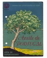 Folheto GREMIO Do AZEITE D'OLIVEIRA - Lista Dos Exportadores Portugal. Cartão Publicidade. Advertizing OLIVE OIL - Advertising