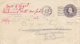 3c Washington Circular Die Envelope 1919 Brooklyn, N.Y. Sta. B To 165th Infantry, Remagen Am Rhein, A.E.F. Forward... - Postal History